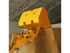 High lift grain buckets