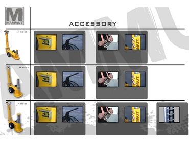 Accessories are available to provide mechanical load support