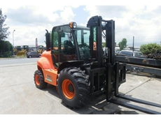 The Ausa rough terrain forklifts are compact and rugged
