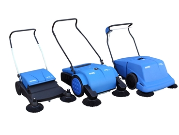 Height adjustable sweepers makes easy cleaning of uneven surfaces