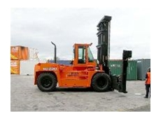 Container-handling forklift.