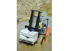 Ausa all terrain forklifts feature a hydrostatic drive that reduces slip in wet conditions