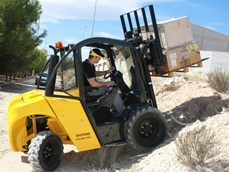 Lencrow all terrain forklifts turn heads at HRIA show