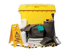 Liquatex spill kit with 660-litre wheelie bin