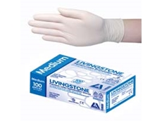 Low powder latex gloves