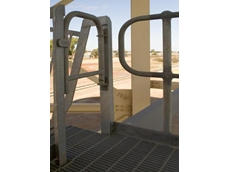 Handrails protect personnel while allowing them to work close to hazardous drops in high-risk environments.