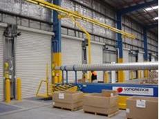 LongReach telescopic conveyor at Reece Plumbing's new distribution centre