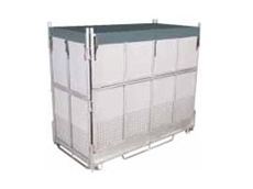 Gpak G5 pallet bins are ideal for use with hanging garments and other irregular freight items