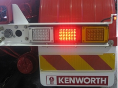 Lucidity lights on Kenworth truck