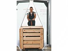 Flexible 'see-thru' swing door
