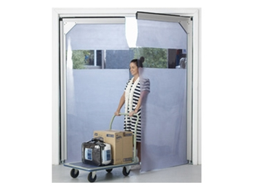 Flexible swing doors