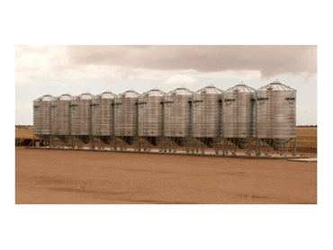 Heavy duty Fixed Silos constructed from Australian Bluescope Galvabond® Steel