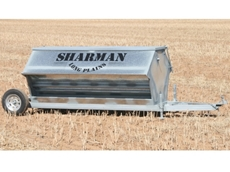 Sheep Feeder on Wheels allows for easy, no fuss transportation of feed