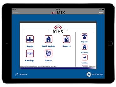 MEX iOS App Ipad