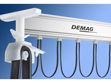 Demag has added a slewing motion limiter and a cable slider to its KBK light crane system.
