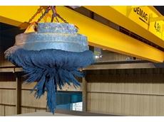 Double girder process crane