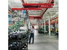 Light rail and workstation crane system