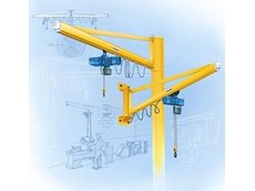 Pillar and Wall-Mounted, Lightweight Slewing Jib Cranes from MHE Demag Australia