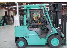 The modified Mitsubishi FD25N forklift