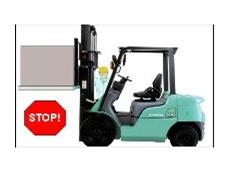 Mitsubishi Forklift Trucks now includes a safety system to alert operators of danger.
