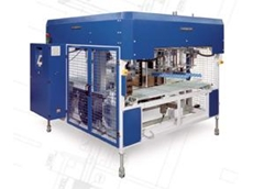 UATRI automatic in-line corrugated cardboard strapping machine