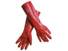 MSA Fully Coated PVC Single Dipped Gloves - 45 cm