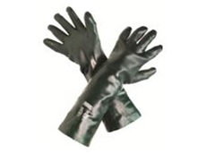 MSA Green Double Dipped PVC Glove - 45 cm