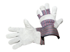 MSA Split Leather Premium Candy Stripe Glove