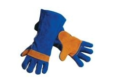 Welding Gauntlet - Blue Leather