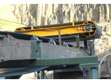 MSA permanent self-cleaning over-belt magnet installed at Cleary Bros. quarry in Albion Park NSW