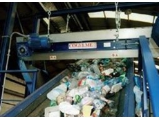 COGELME Overbelt magnetic separators for recycling