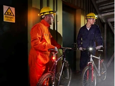 The LED visual warning indicators are ideal for use as personal identification on protective headwear, clothing and site bicycles