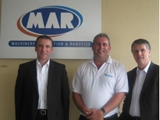 Troy Krogh of MAR and Paul Sewell and Ian McKinnon of FreshBins