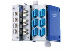 The industrial patch panel combines copper and fibre management in the one solution.