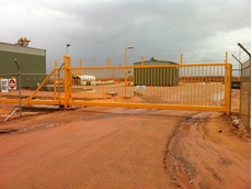 Magnetic's cantilever slide gates at the mine site