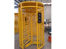 Magnetic's turnstiles incorporated a traffic light system
