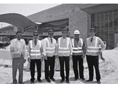 Mr Yamaguchi (3rd from right) with colleagues at the QNCC site