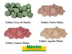 Slow Release Fertiliser Tablets and Spikes from Manutec