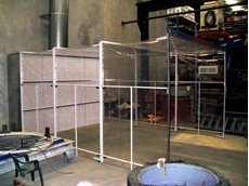 Mastre-Flex retractable spray booth systems