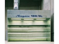 Niagara water wash spray booths can also be used for spray painting and powder coating applications