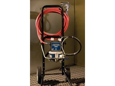 Triton air-operated spray finish equipment can be used with numerous spray finish materials