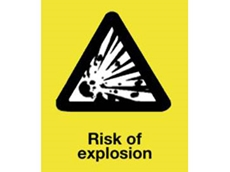 Correct risk prevention measures must be taken in explosive areas
