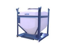 The polyethylene IBC is used for the storage and distribution of granules and powders