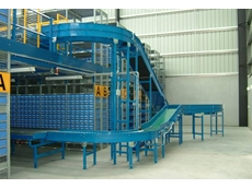 Powered belt and roller conveyors for mezzanine
