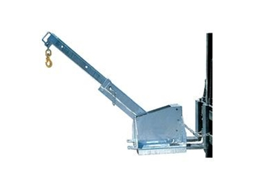 Forklift adjustable tilting jib