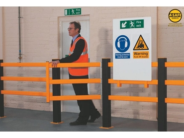 Pedestrian Barriers have swing or slide gates