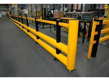 Double Rail barrier with pedestrian rail