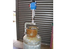 A Gorbel, G Force safely lifts heavy gas bottles
