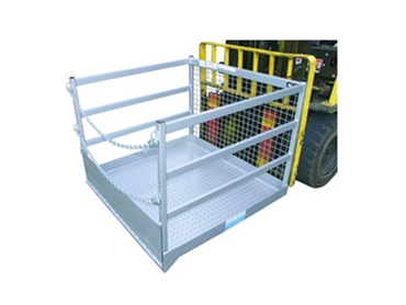 Safety goods cages for forklifts