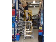 The springless design of Navigator mobile platform ladders eliminates rocking or swaying, providing a safer workspace